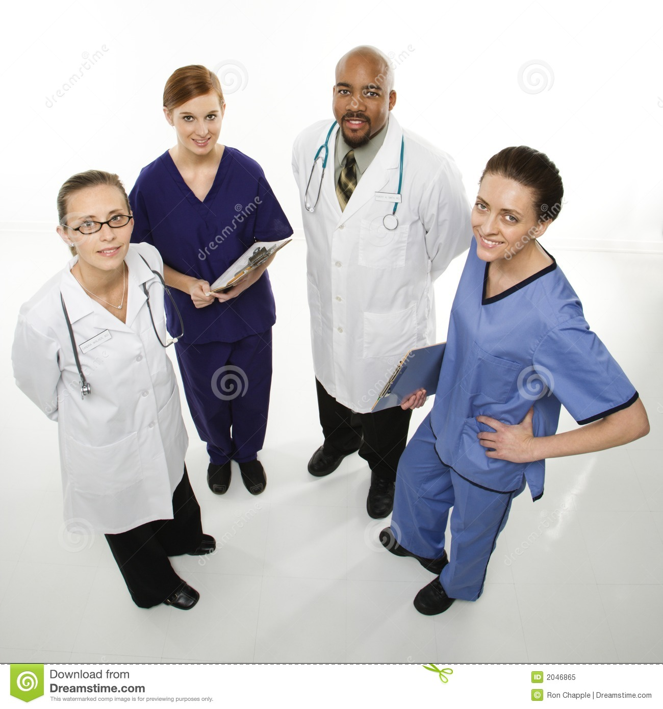 Healthcare Workers Portrait Royalty Free Stock Photo