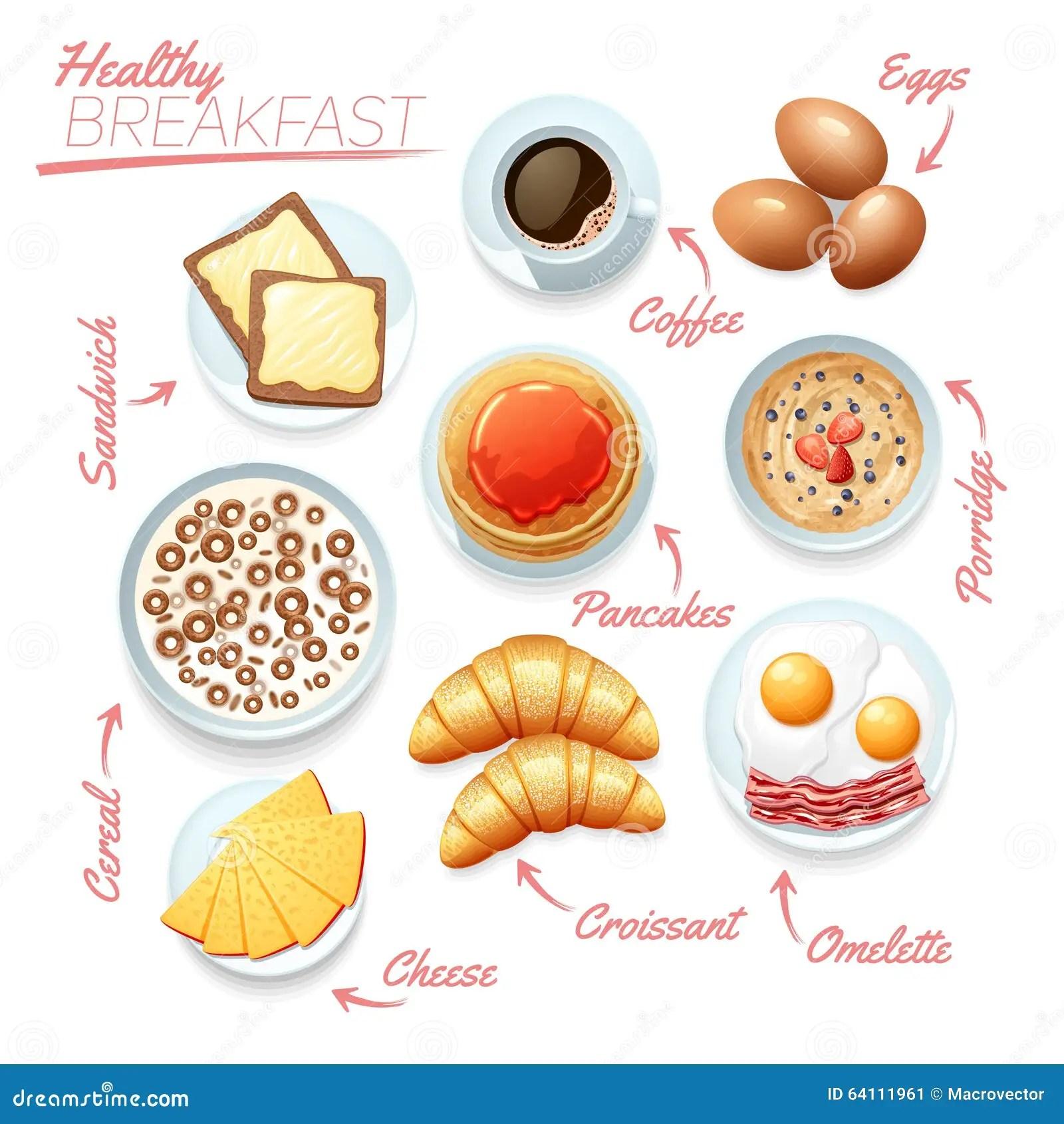 Healthy Breakfast Poster Stock Vector