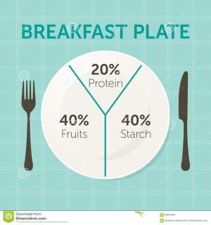 Healthy Eating Plate Diagram Stock Vector  Image: 84641967