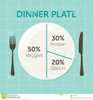 Healthy Eating Plate Diagram Stock Vector  Image: 84642784