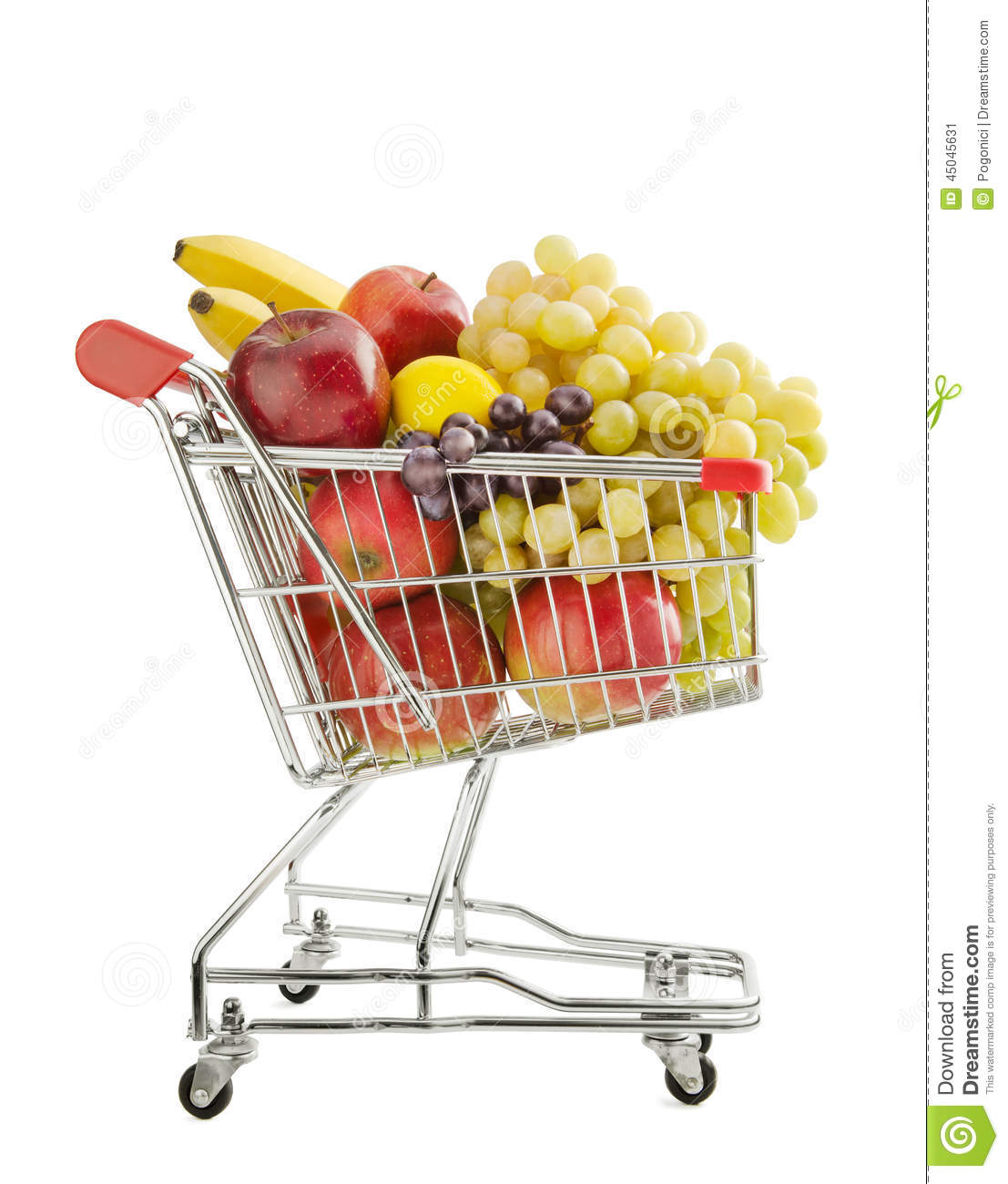 Healthy Food Shopping Stock Photo