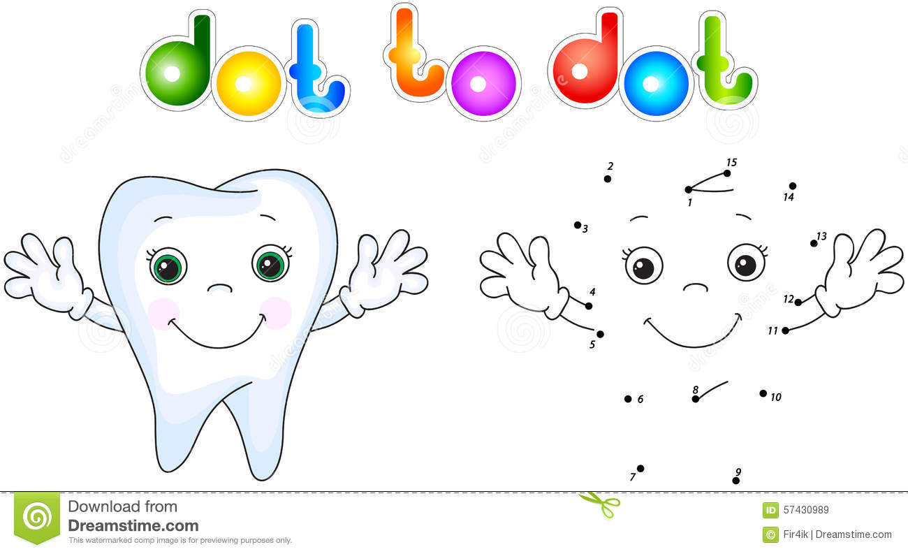 Healthy Tooth Smiling Connect Dots And Get Image