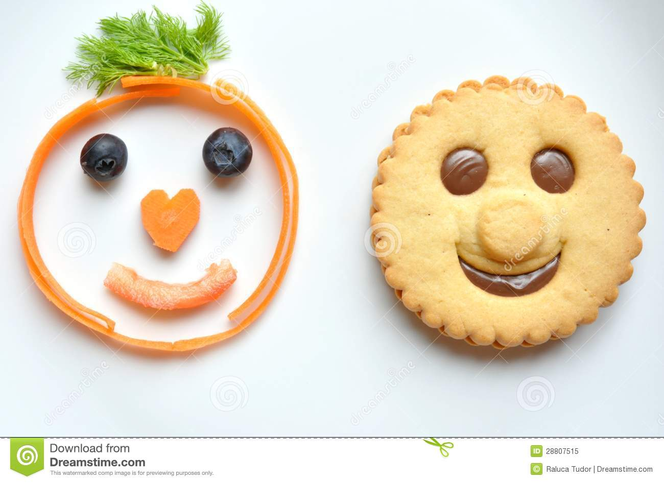 Healthy Versus Unhealthy Food Concept Royalty Free Stock Photo