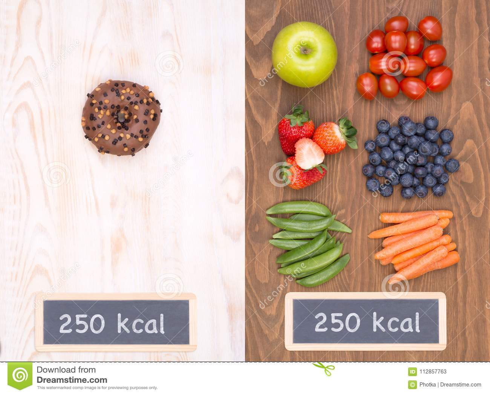 Healthy Vs Unhealthy Food Concept Stock Image Image Of