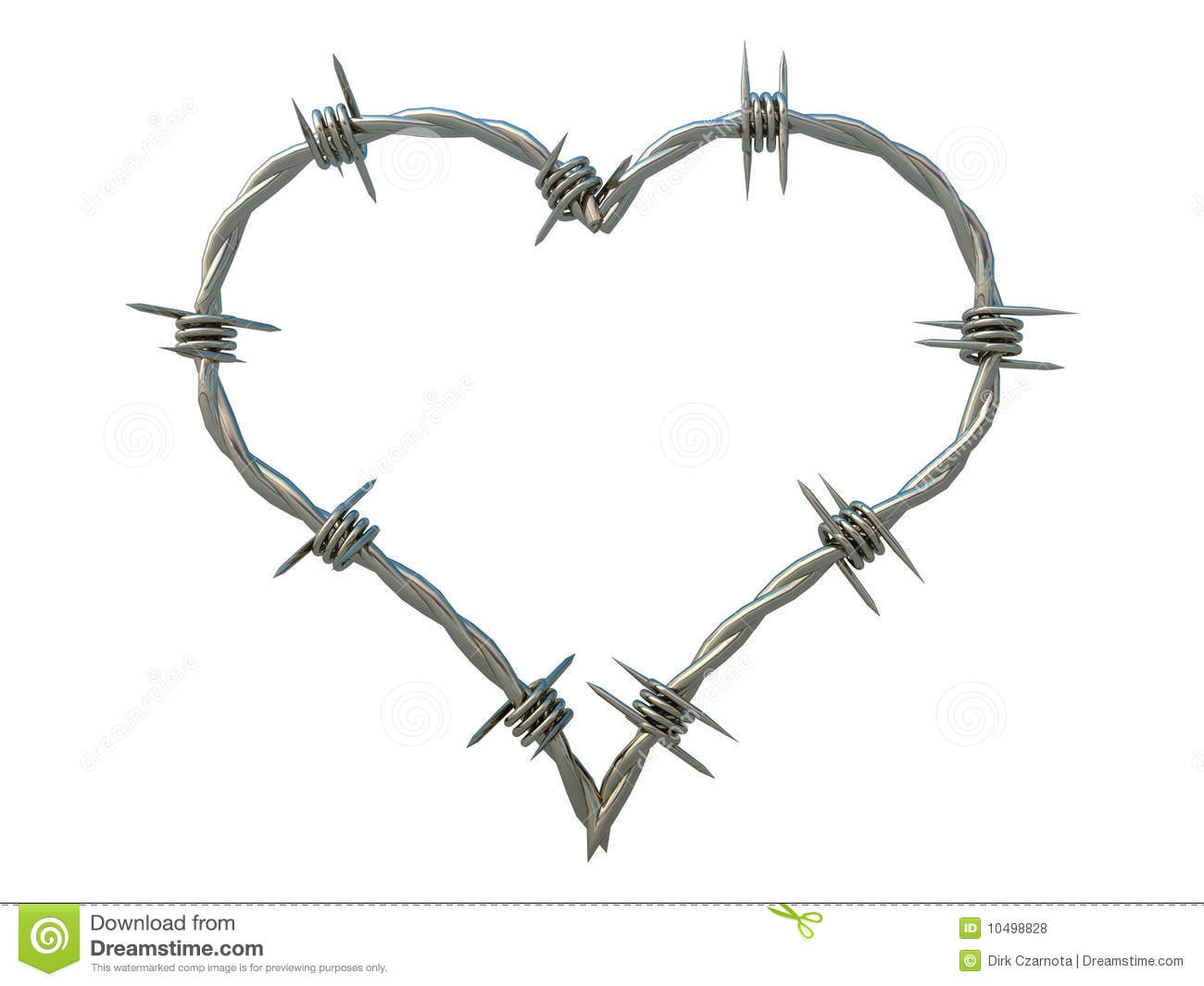 Heart Of Barbed Wire Royalty Free Stock Photos