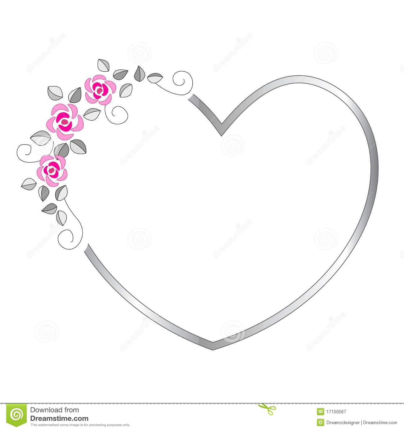 Heart Border Stock Vector Image Of Romantic Heart