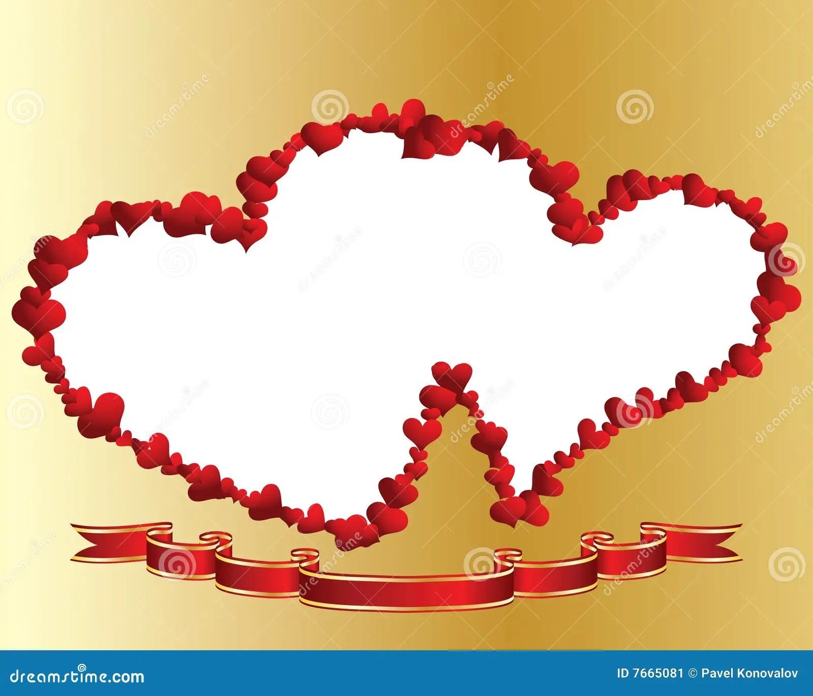 Heart Frame Stock Image Image 7665081