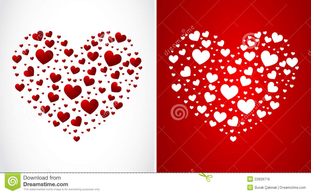 Heart Made Of Small Hearts Stock Vector Image Of Heart