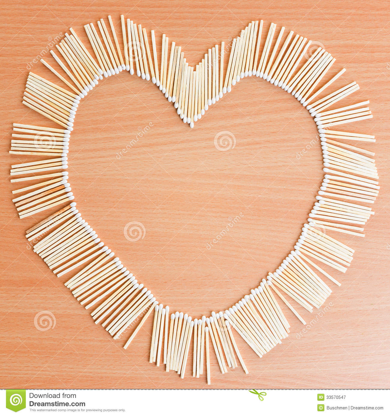 Heart Of Matches Stock Image Image Of Match Symbol