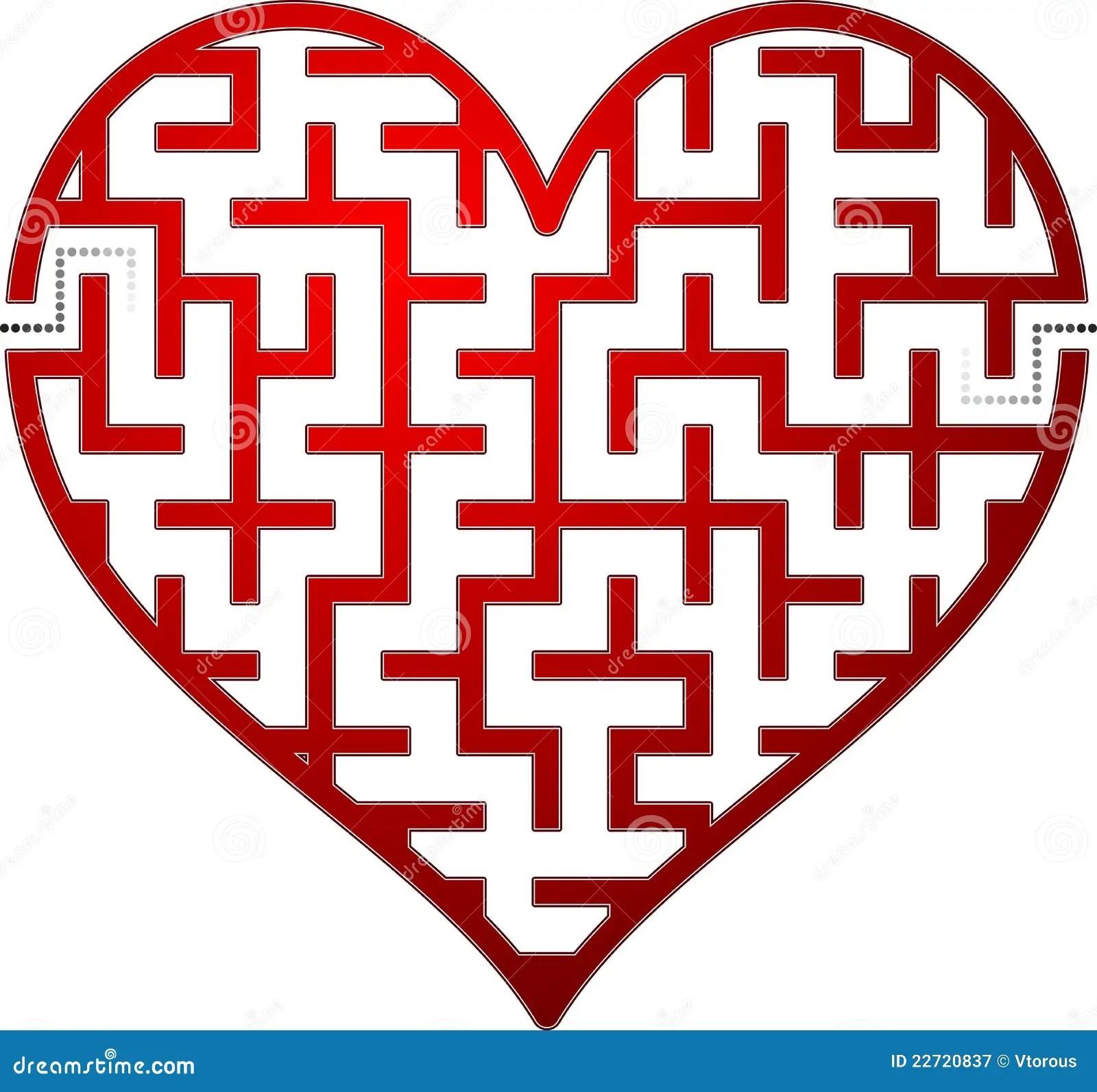 Heart Maze Royalty Free Stock Photography
