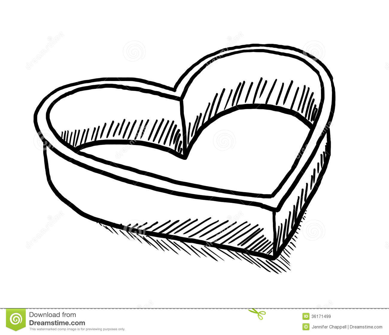 Heart Shaped Cookie Cutter Stock Illustration