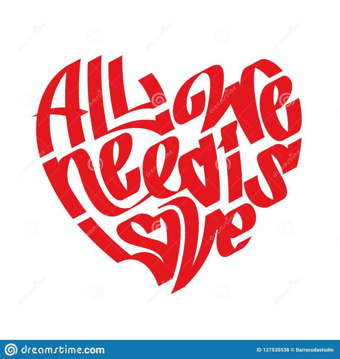 Download Heart Typography. Love Typography. All We Need Is Love ...