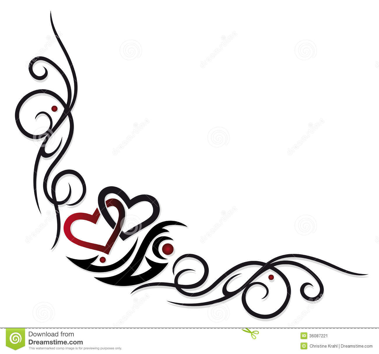 Hearts Border Stock Vector Illustration Of Marriage