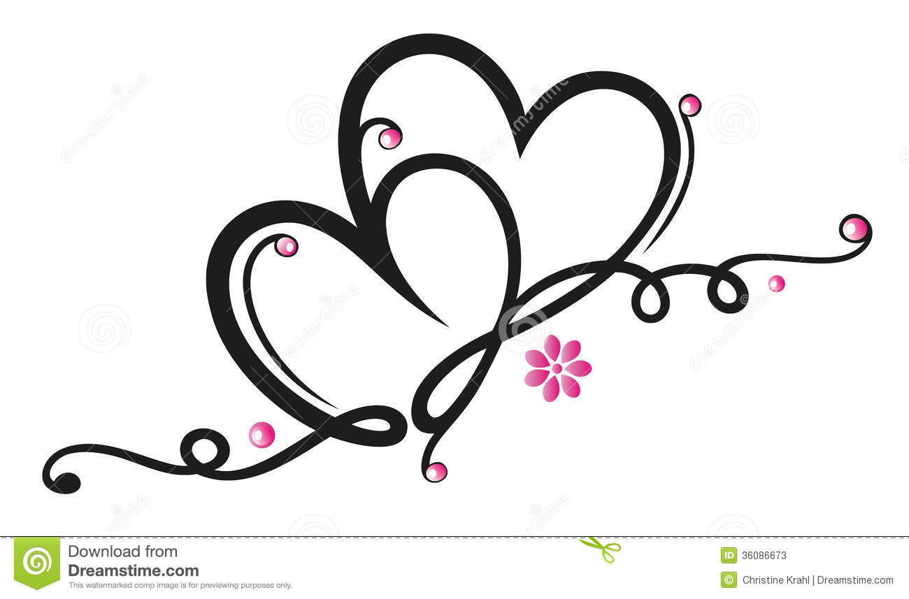 Hearts Flowers Stock Vector Illustration Of Flowers