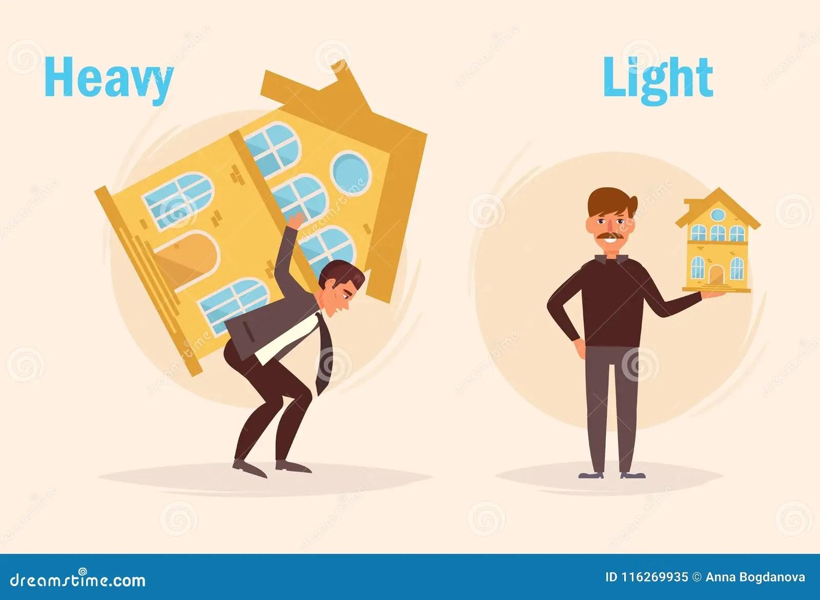 Heavy Light Opposite Stock Vector Illustration Of Loan