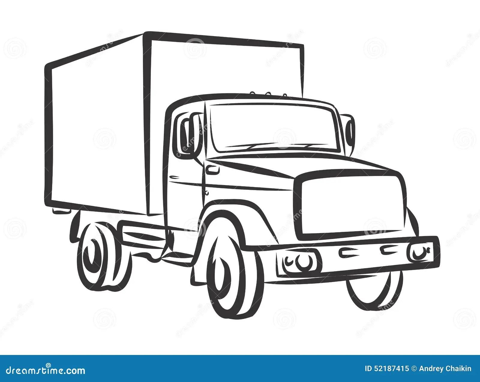 Heavy Truck Stock Vector