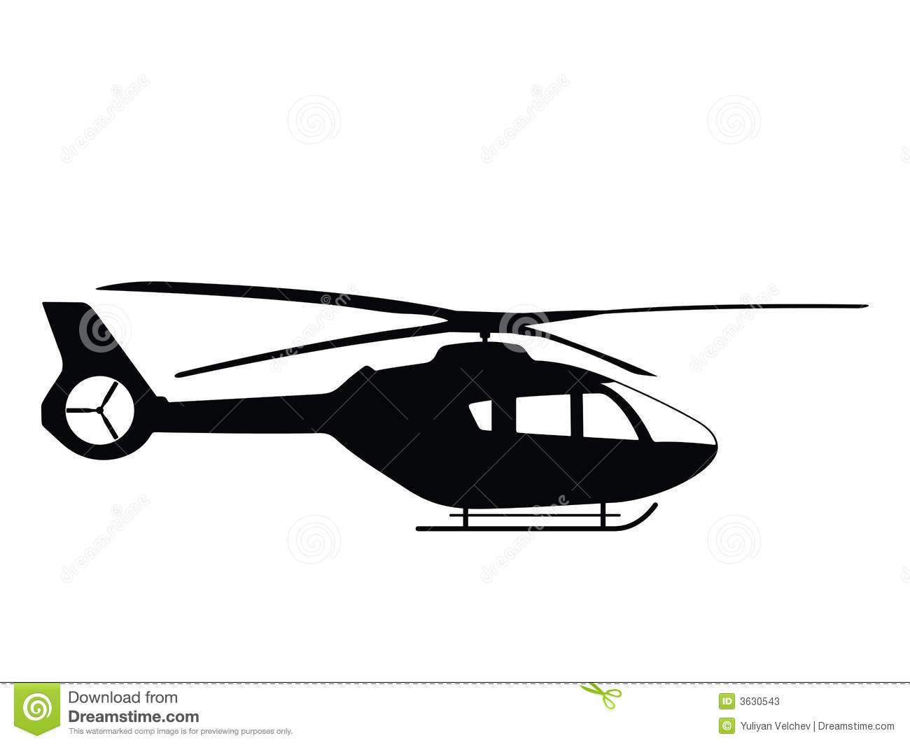 Helicopter Stock Vector Illustration Of Chopper