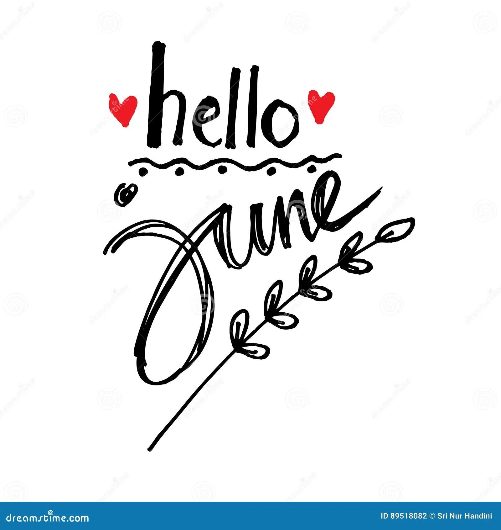 Hello June Stock Image