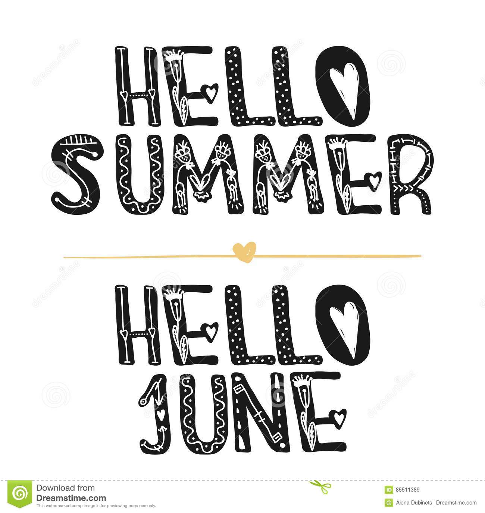 Hello Summer Hi June Motivational Quotes Sweet Cute