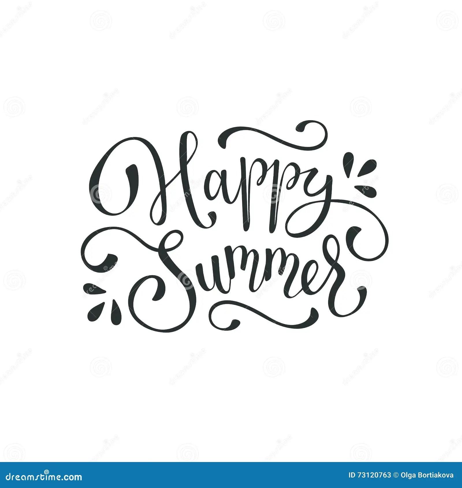 Hello Summer Wording Stock Vector Illustration Of