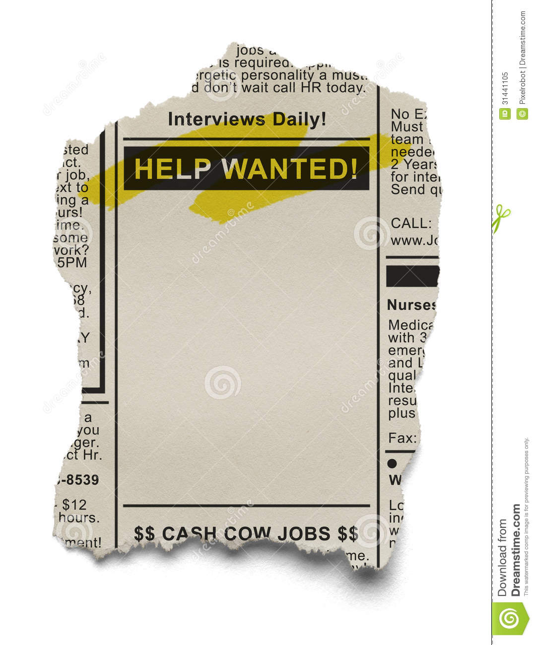 Help Wanted Royalty Free Stock Photo