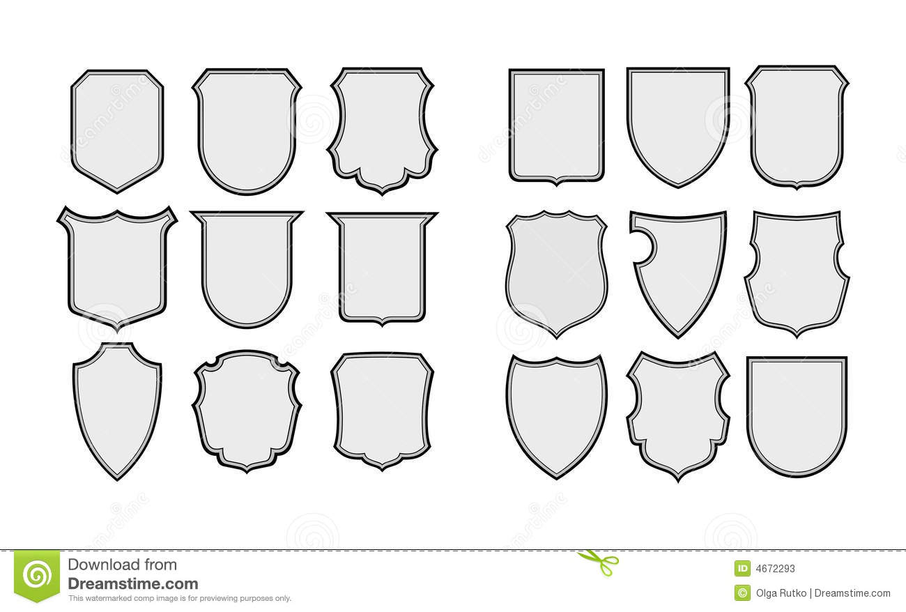 Heraldic Shields Frames Stock Vector Image Of Security