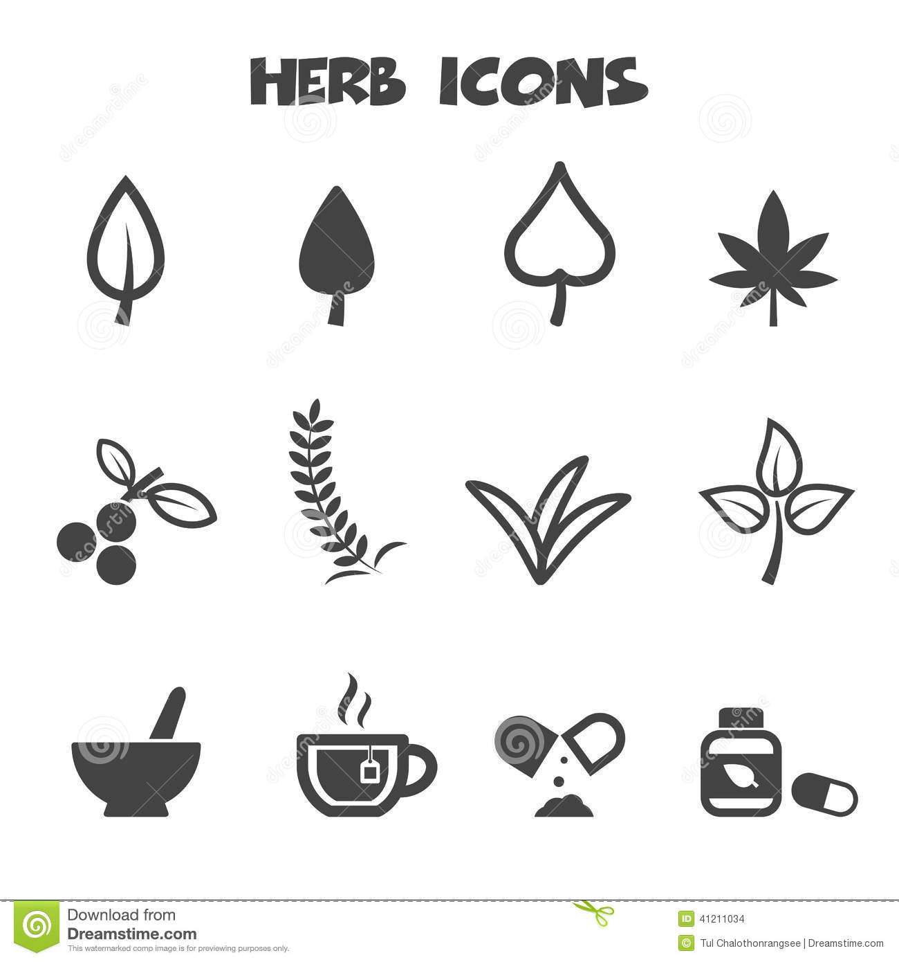 Herb Icons Stock Vector