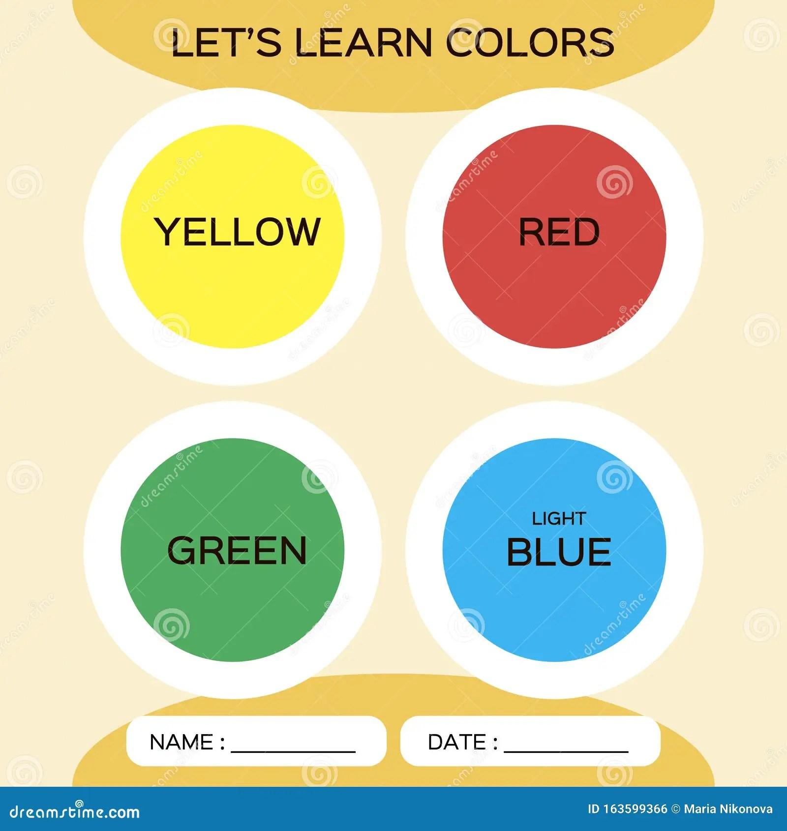Het Leren Cirkelvormen Met Kleur Voor De Opleiding Van