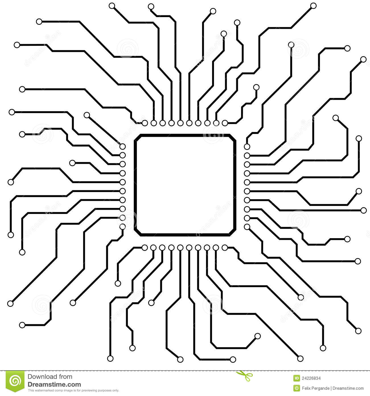 Hi Tech Circuit Board Stock Vector Image Of Chip Banner