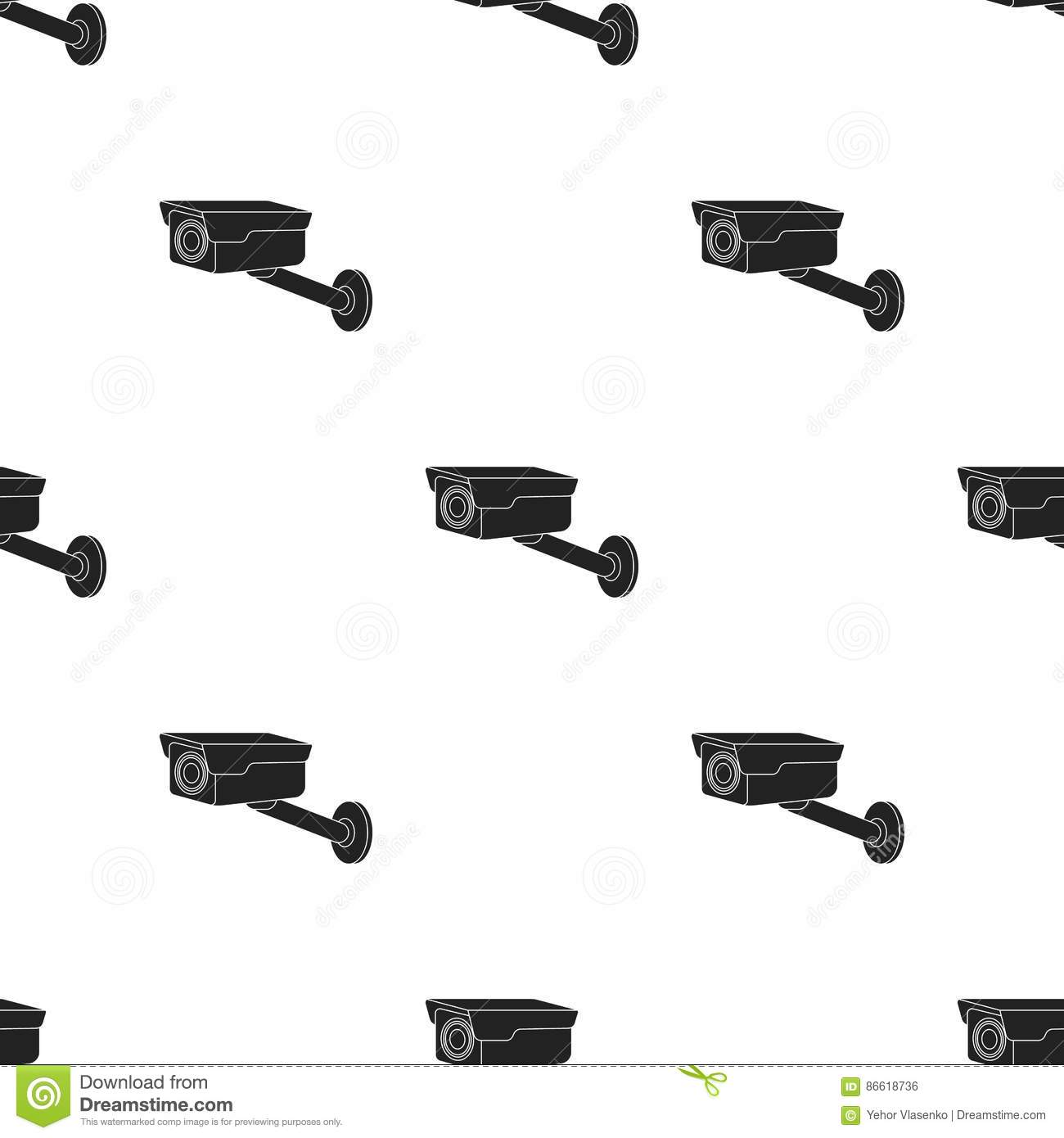 Vector Cctv Camera On White Background Cartoon Vector