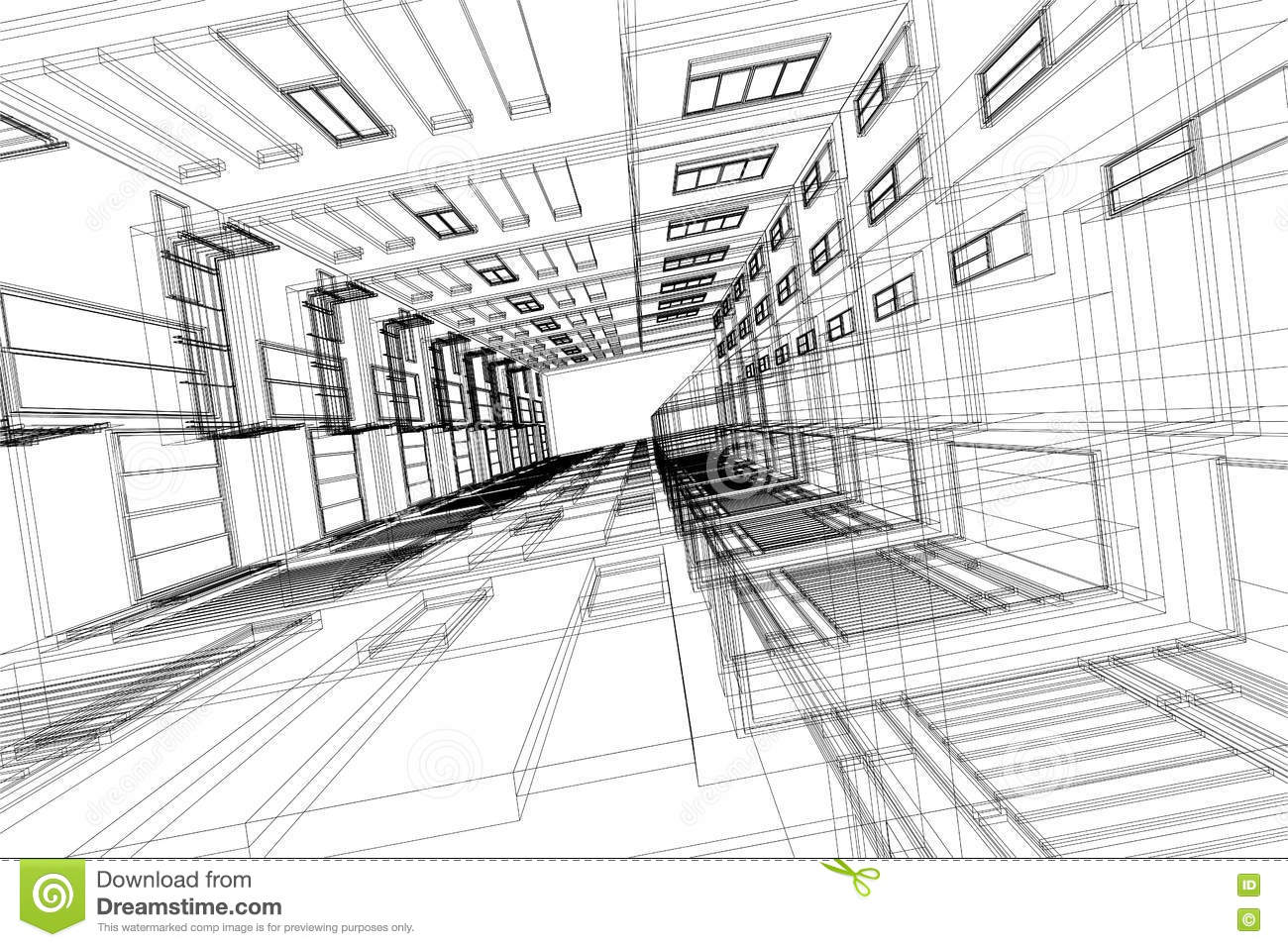 High Building Structure Architecture Abstract 3d