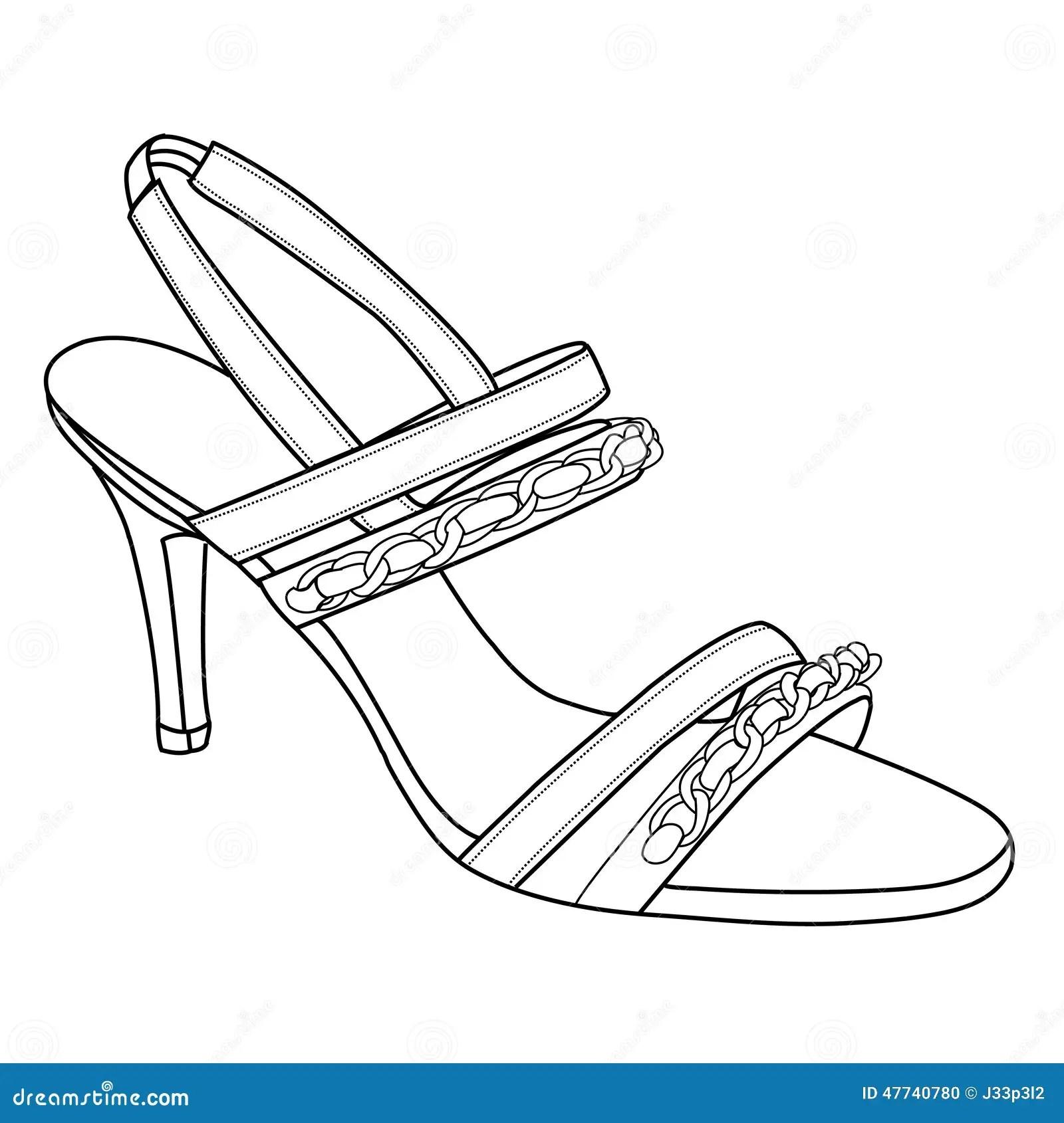 High Heels Shoes Stock Vector