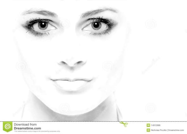 High Key Face stock photo. Image of eyes, greyscale ...