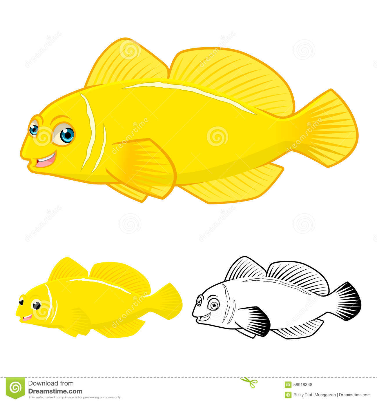 Coloring Pictures Flat Fish