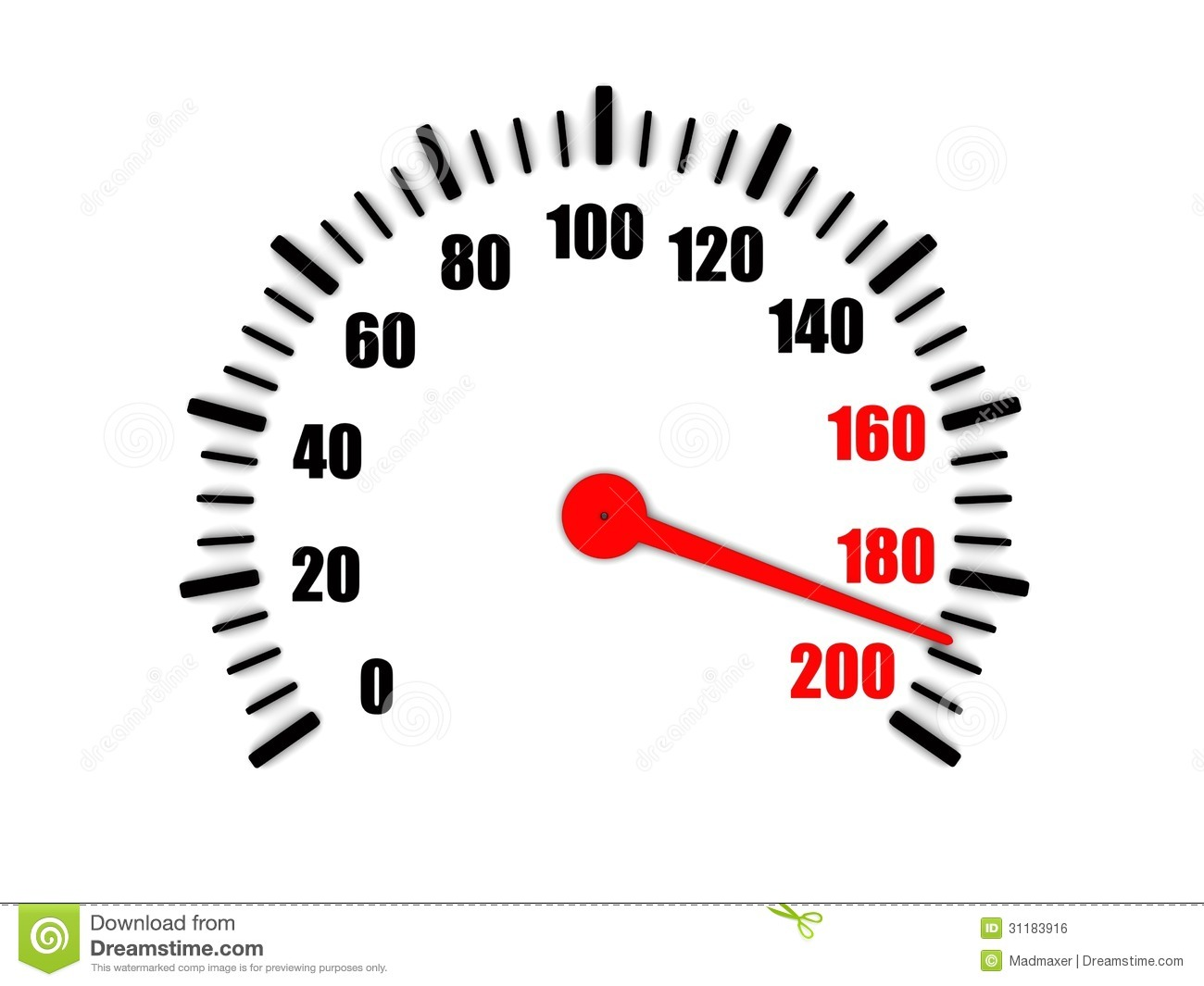 High Speed On A Speedometer Stock Illustration