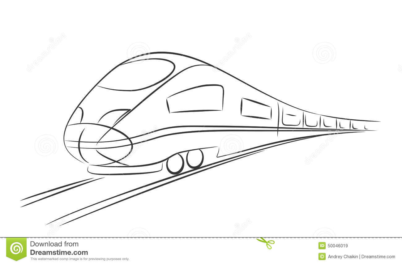 Train Stock Vector Illustration Of Rails Railroad