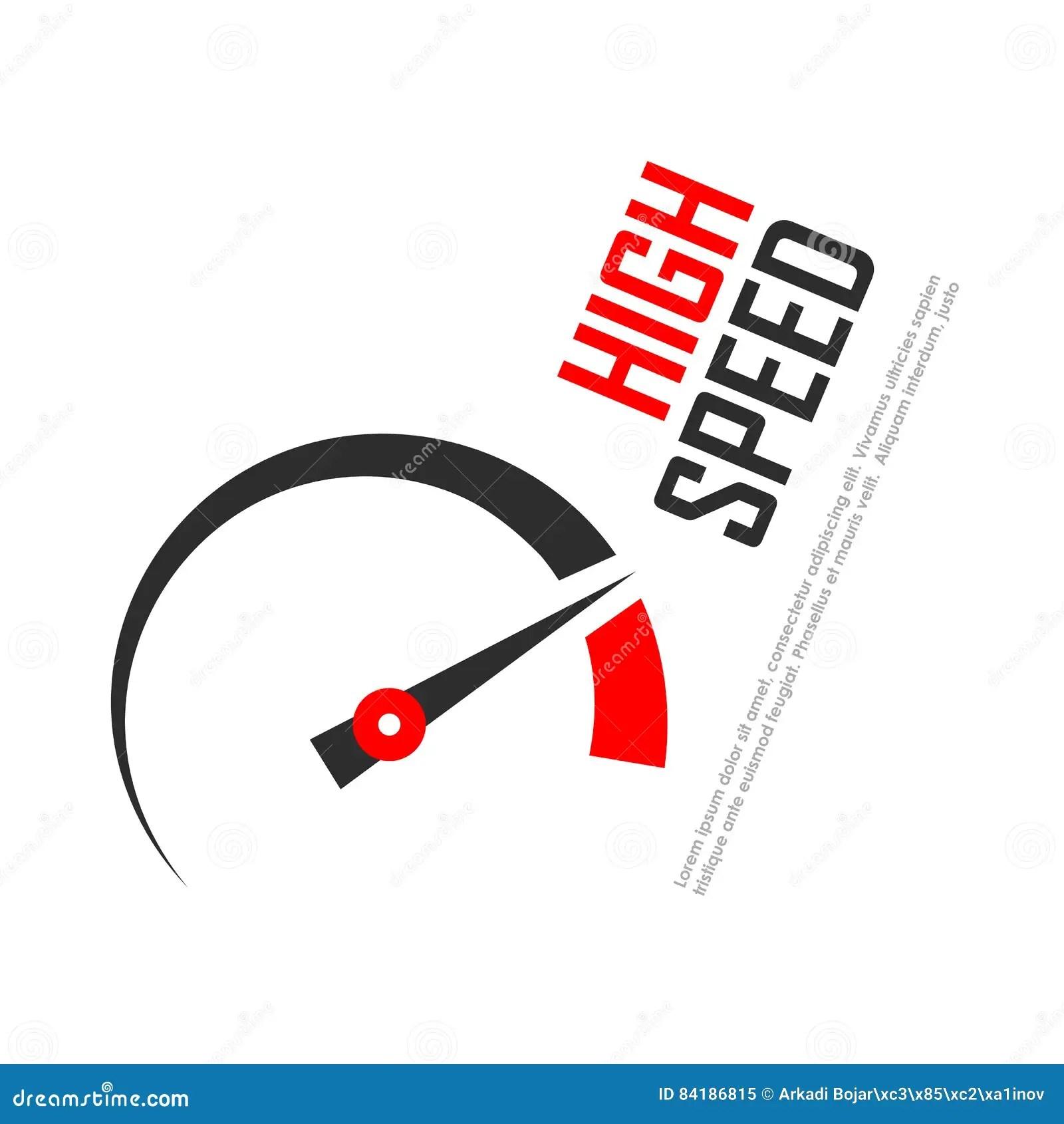 High Speed Vector Logo Stock Vector Image Of Counter
