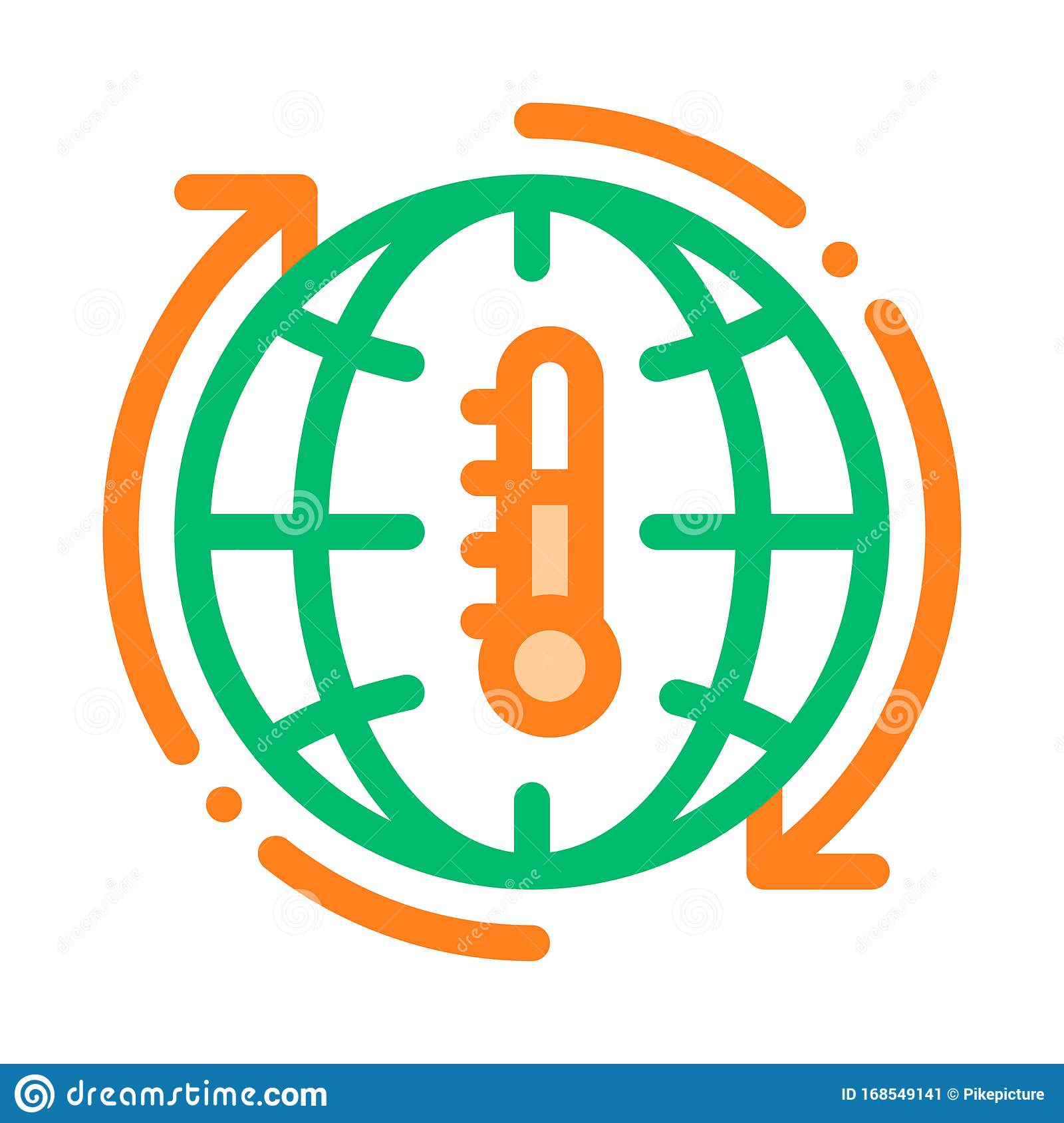 High Temperature Problem Vector Thin Line Icon Stock