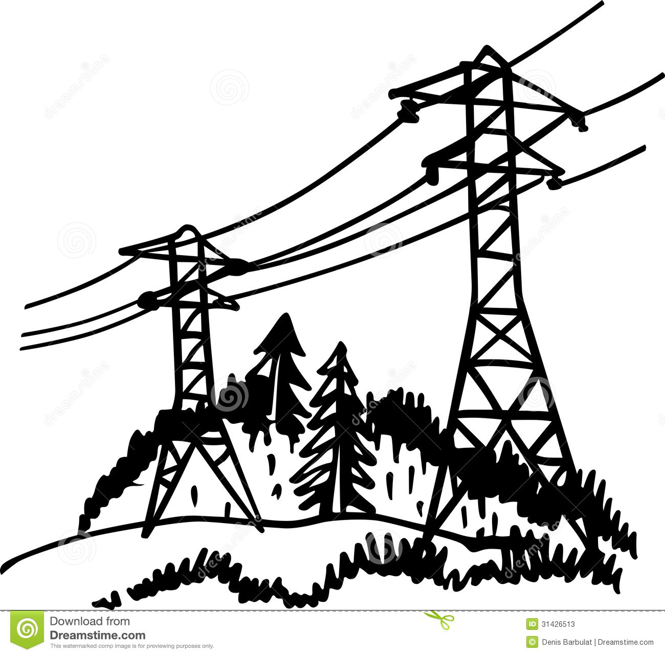 High Voltage Power Line Stock Photos