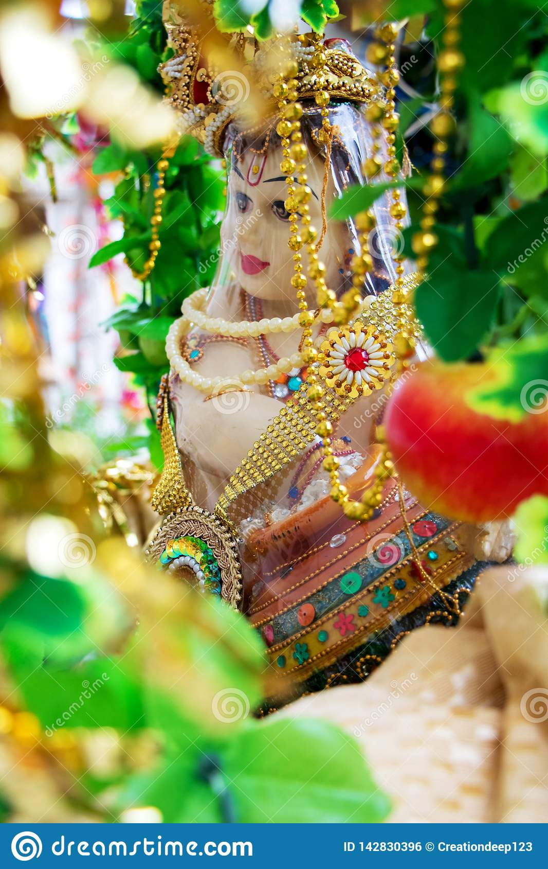 The Hindu God Lord Krishna Stock Photo Image Of Kisna Spiritual 142830396