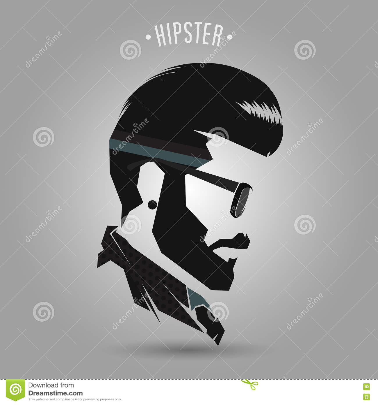 Hipster Vintage Hair Style Stock Vector Image 72927869