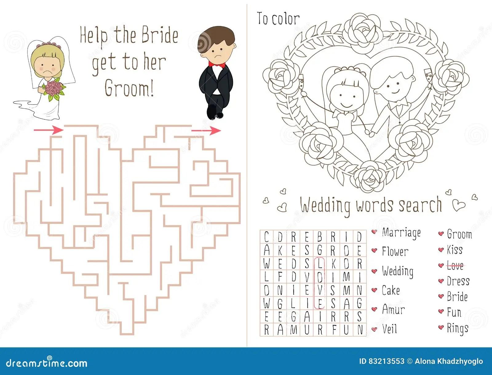 Hochzeits Tatigkeits Buch Fur Kinder Das Labyrinthherz