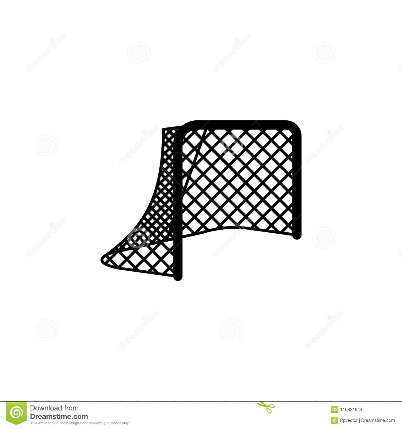Hockey Net Hockey Gates Stock Vector Illustration Of