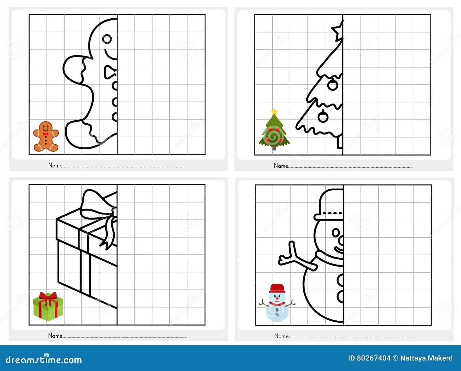 Hoja De La Actividad Del Tema De La Navidad