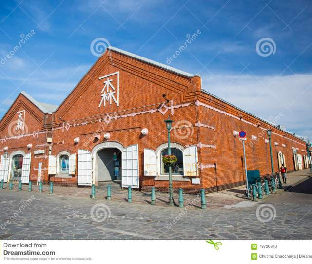 Hokkaido Japan July 16 2015 The Kanemori Red Brick Warehouse In Hakodate