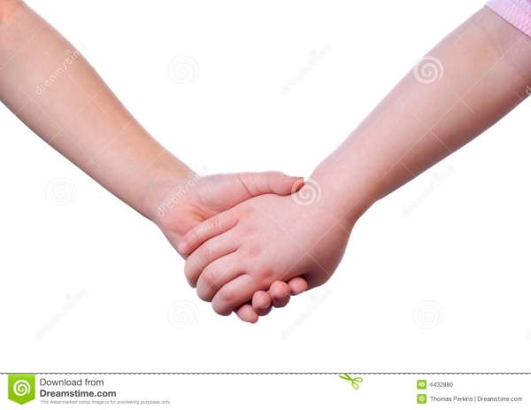 Holding Hands Stock Photo Image 4432880