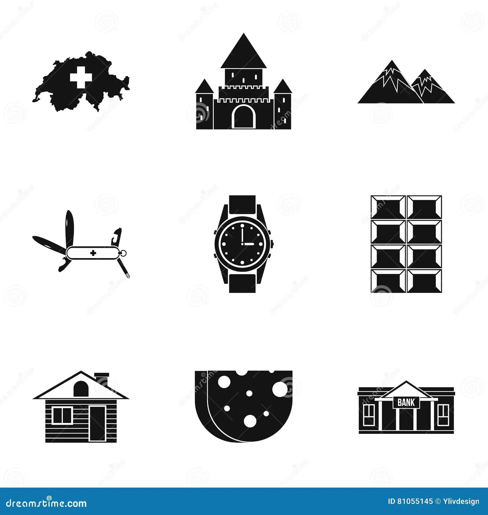 Political Icons Set Vector Illustration