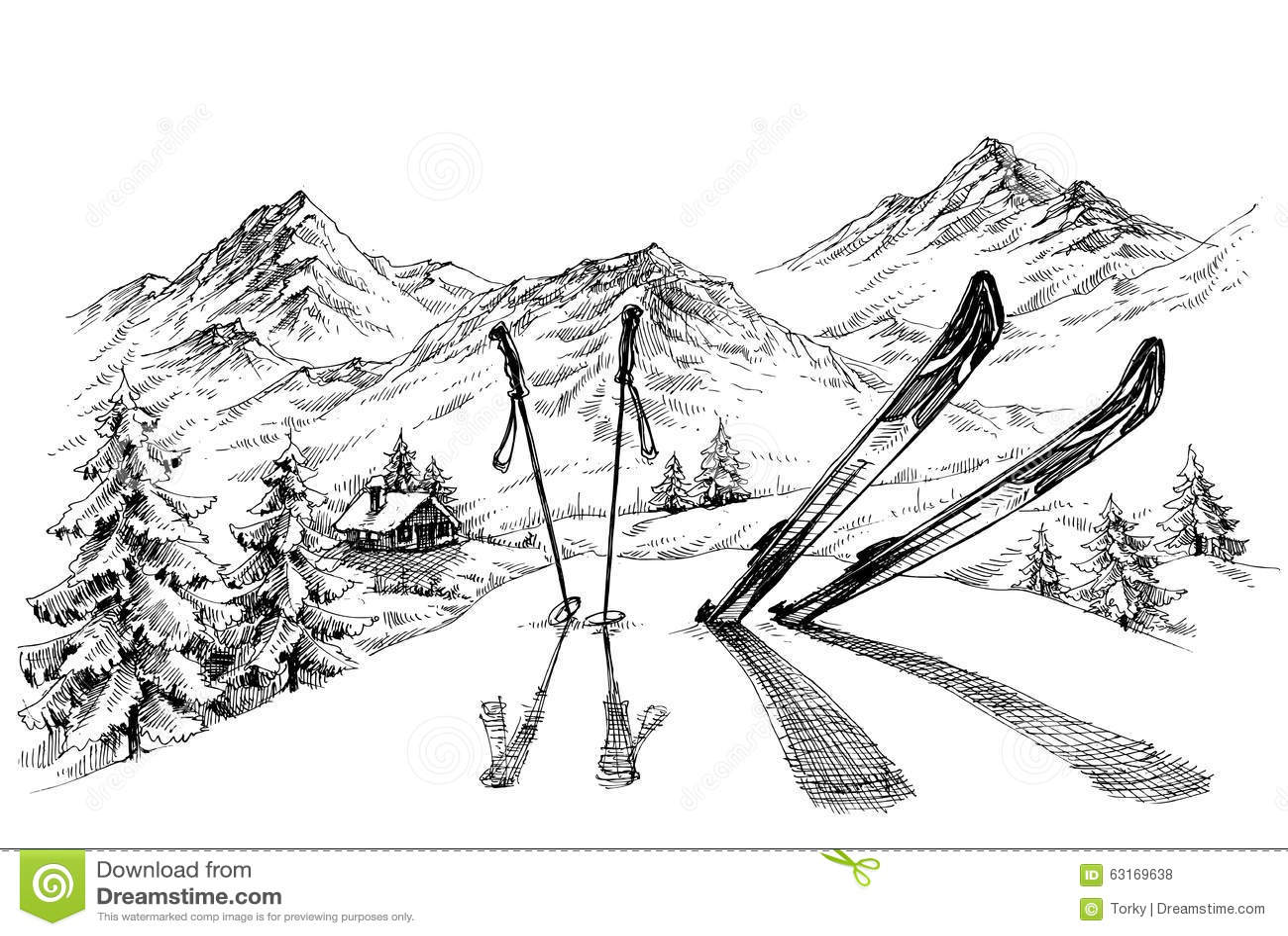 Holidays At Ski Stock Vector Illustration Of Recreation