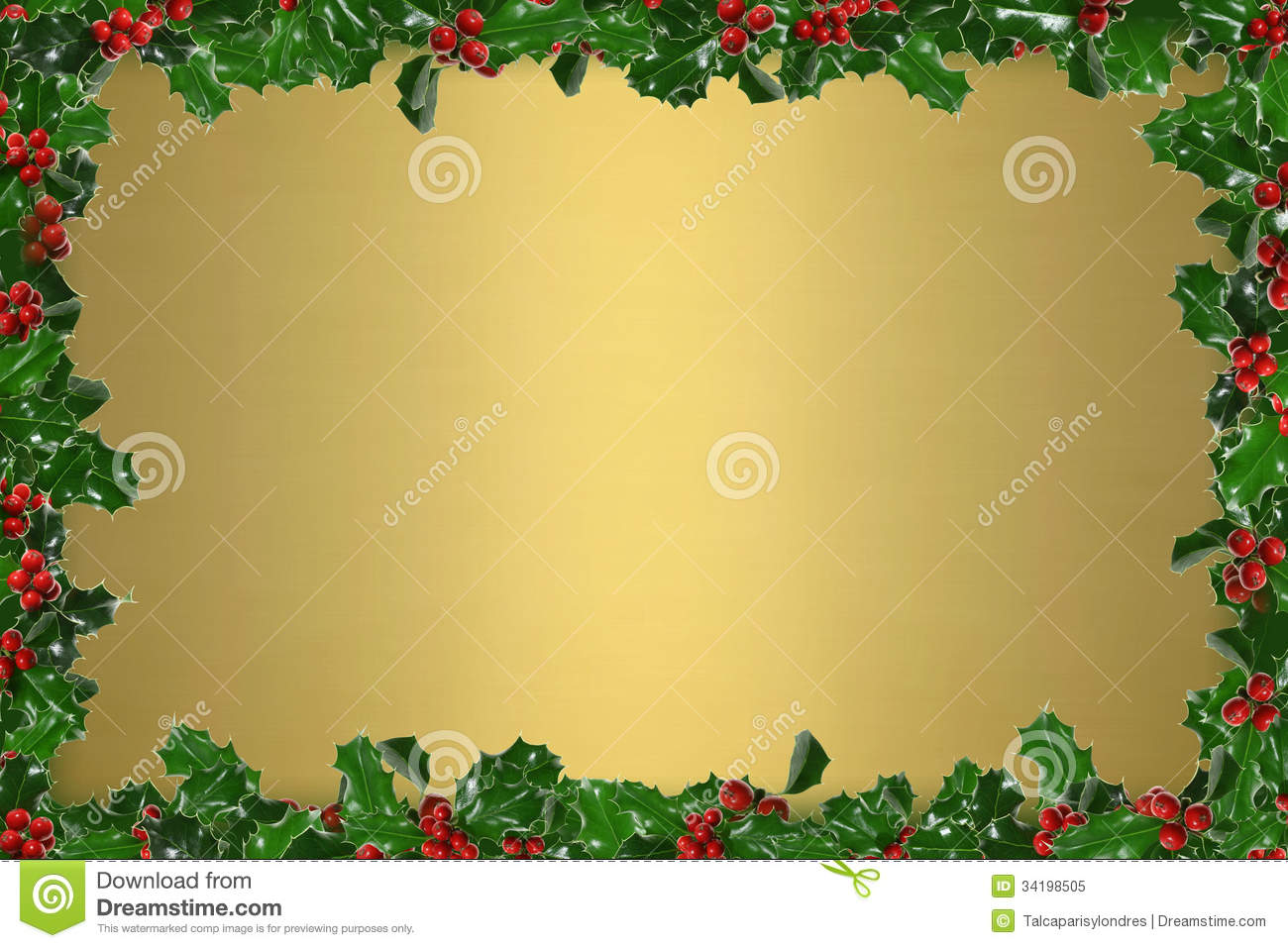 Holly Frame Royalty Free Stock Photo Image 34198505