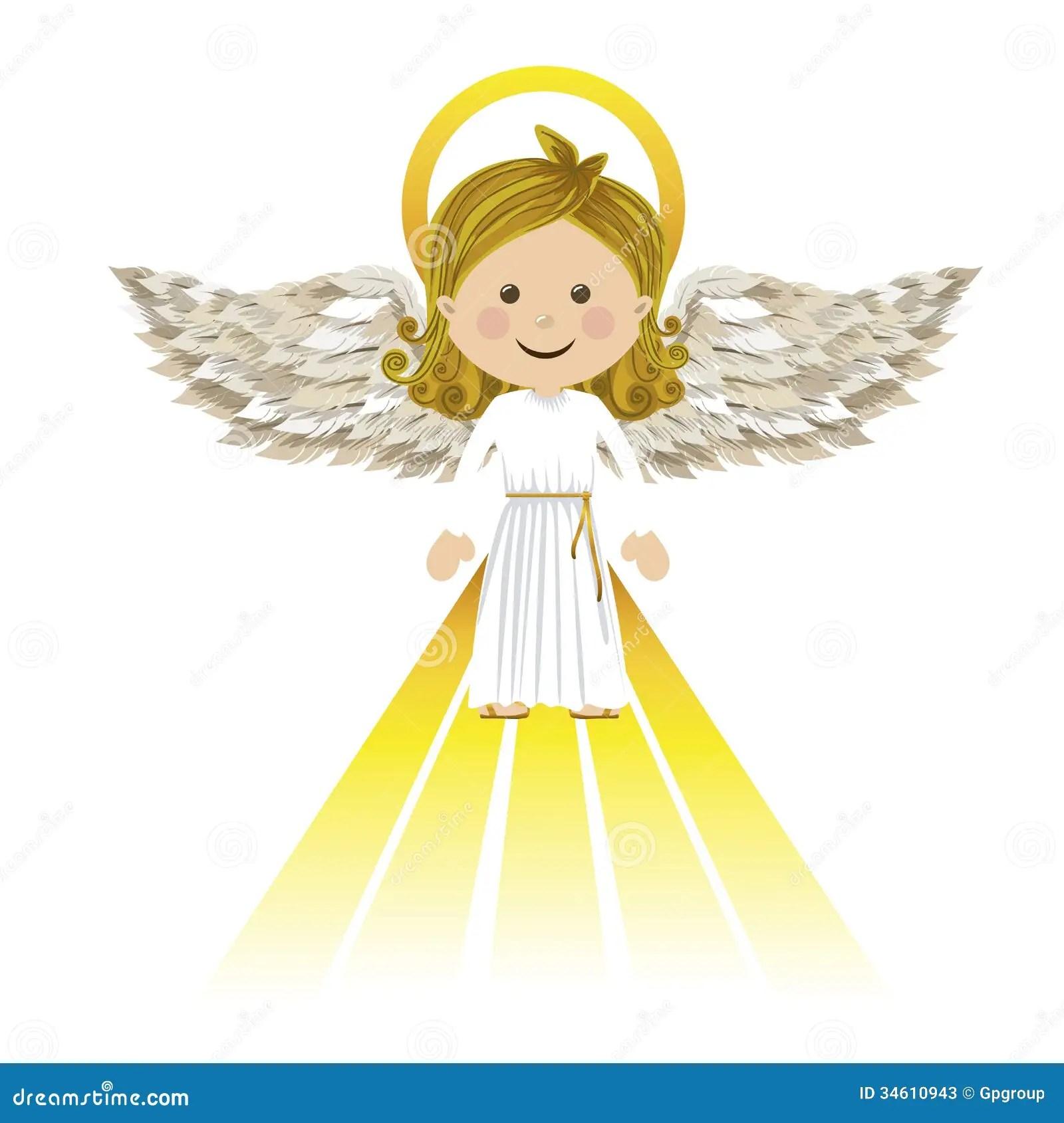 Holy Guardian Angel Stock Photos Image 34610943
